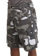 Men Vintage Paratrooper Cargo Shorts Camo Small