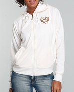 Women Heart On Her Sleeve Hoodie Cream Medium