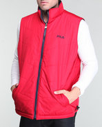Men Reversible Filled Vest Blue Medium