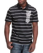Men Y/D Left Chest Numeral Polo Black Xx-Large
