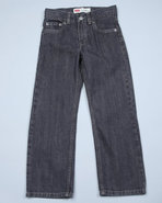 Levi's Boys 514 Slim Straight Jeans (4-7X) Grey 4