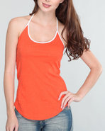 Rvca Women Poppy Tank Orange X-Small