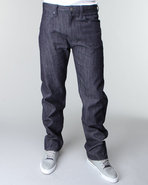 Men 5 Pocket Jeans Dark Wash 40X34