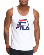 Men Fila  96  Tank Top White Large