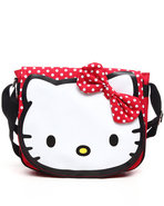 Girls Hello Kitty Flap Messenger Bag W/Poka Dots R
