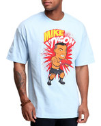 Men Mike Tyson Tee Light Blue Medium
