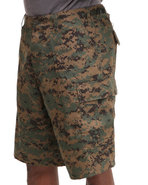 Men Rotcho Bdu Combat Woodland Digital Camo Cargo