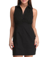 Women Sabrina Lace Dress Black Medium