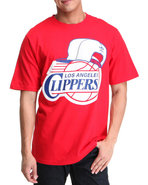 Men Los Angeles Clippers Snap Back Team Logo Tee R