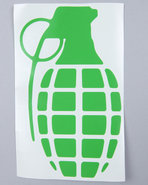 Men Grenade 8.5  Die Cut Sticker Green