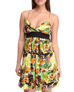 Women Abstract Print Dress Multi 5/6