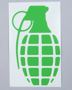 Men Grenade 4  Die Cut Sticker Green