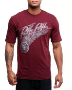 Men S/S Wing Tee Maroon Medium