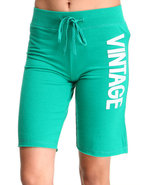 Women Vintage Active Bottoms Green Large