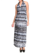 Women Hippy Chic Maxi Dress Grey X-Large
