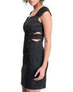Xoxo Women Jacquard Cut-Out Dress Black 13/14