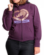 Women Sequin Hoodie Purple 1X
