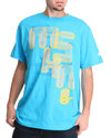 Men Laser Graphic Tee Light Blue Xx-Large