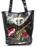 Women Betty Boop Bad Girls Tote Bag Black