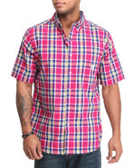 Men Ossabow S/S Plaid Shirt Large