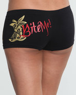 Women Bite Me 2 Single Seamless Boyshorts Black Me