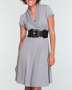 Women Basic Sweater Dress Grey X-Small
