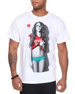 Men Four Eyed Freak Tee White X-Large