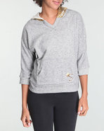 Women 3/4 Sleeve Pullover Grey Small