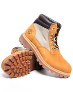 Men Timberland Wheat Nubuck Plain Toe Boots Wheat 