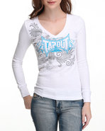 Tapout Women Thermal Tee White Large