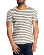 Men Linus Stripe Tee Cream Large