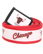 Men Chicago Bulls Logo Flud Belt Red