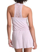 Women Racer Back Criss-Cross Romper Pink Small