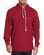 Men Takeover L/S Thermal Hoodie Crimson Xx-Large
