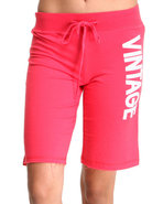 Women Vintage Active Bottoms Pink X-Large