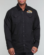 Men Rich Yung Twill Shirt Black X-Large