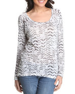 Women Knit Tops White Medium