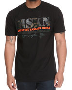 Men Mskn Camo Printed Tee Black 3X-Large
