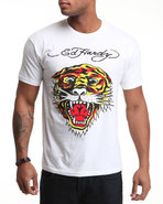 Men Tiger S/S Tee White Xx-Large