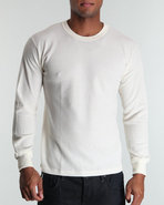 Drj Army/Navy Shop Men Thermal Knit Top Beige X-La