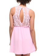 Women Jena Crinkle Georgette Lace Back And Shoulde