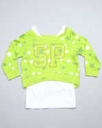Girls 2 Fer Pull Over (Big Girls) Green 12/14 (L)