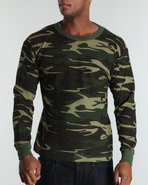 Drj Army/Navy Shop Men Thermal Knit Top Camo 6X-La