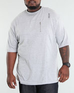 Men Lohan Short Sleeve Knit Grey 3X