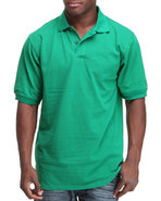 Men Pique Solid Polo Green Xx-Large
