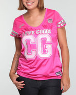 Coogi Women Coogi Jersey Top (Plus) Pink 1X