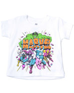 Boys Marvel Team Tee (2T-4T) White 2T