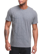 Men Crew-Neck Jersey Graphic Tee Grey Small