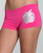 Women Brighten Up Seamless Boyshort Pink Large
