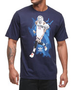 Men Kevin Durante Cut N Paste Tee Blue Medium